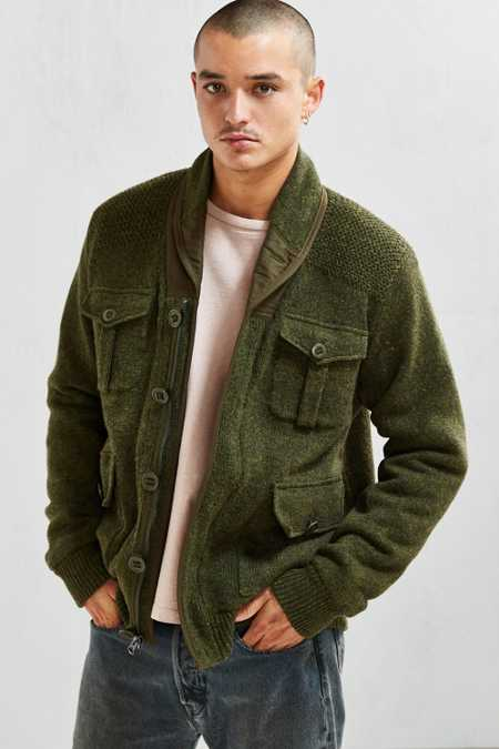 Schott Sherpa Lined Military Cardigan