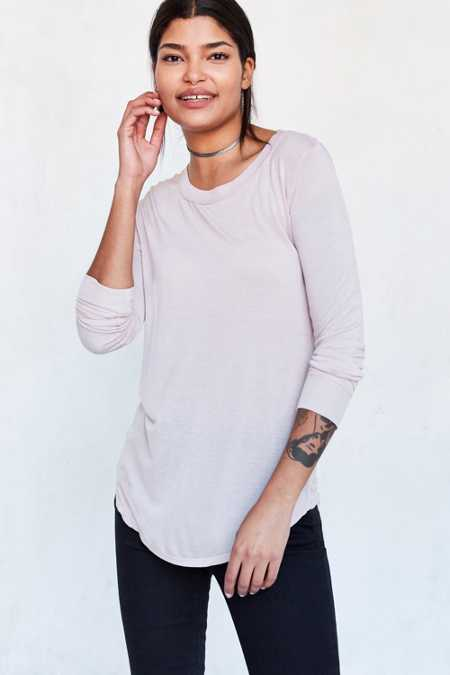 Silence + Noise Astrid Long-Sleeve Shirttail Tee