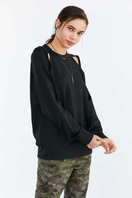 Cheap Monday Seem Cold Shoulder Pullover Sweatshirt