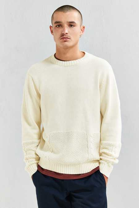 Publish Ezra Blocked Cable Knit Sweater