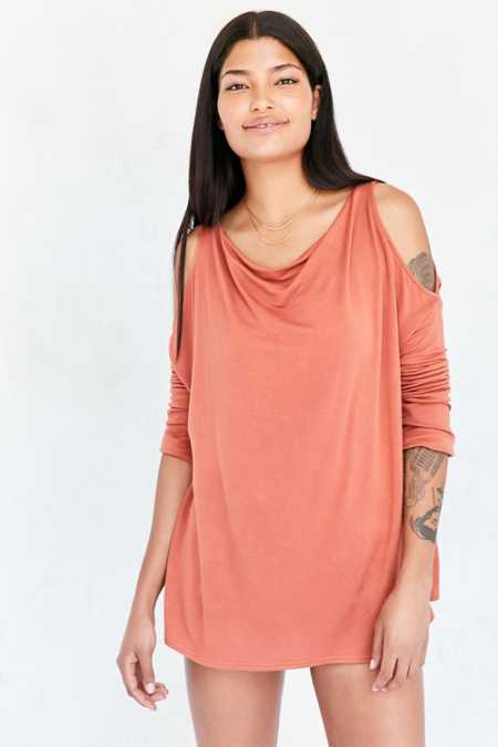 Silence + Noise Falun Cold Shoulder Pullover Sweatshirt