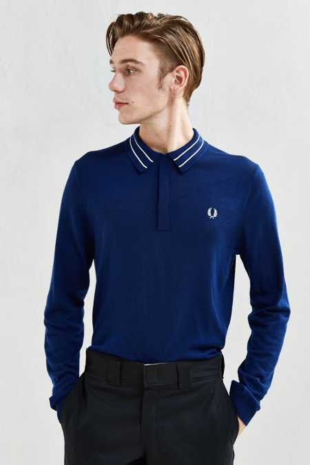 Fred Perry Tramline Tipped Knit Sweater