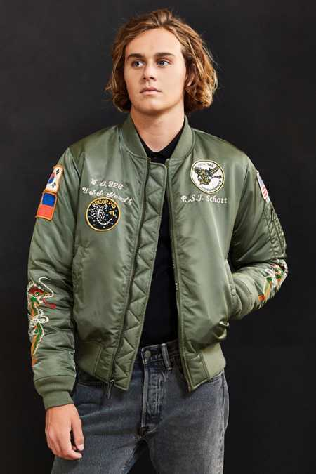 Schott Nylon Flight Satin Souvenir Jacket