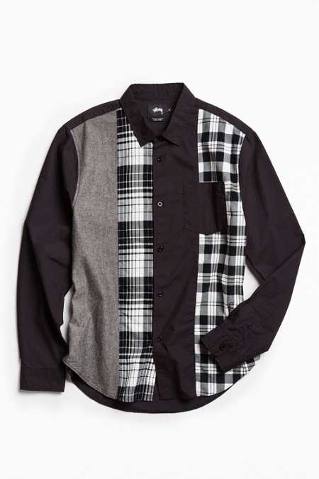 Stussy Mixed Panel Button-Down Shirt