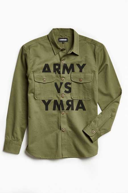 Undefeated Army Print Over Shirt