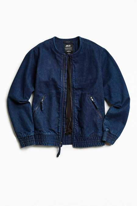 Publish Washed Indigo Bomber Jacket
