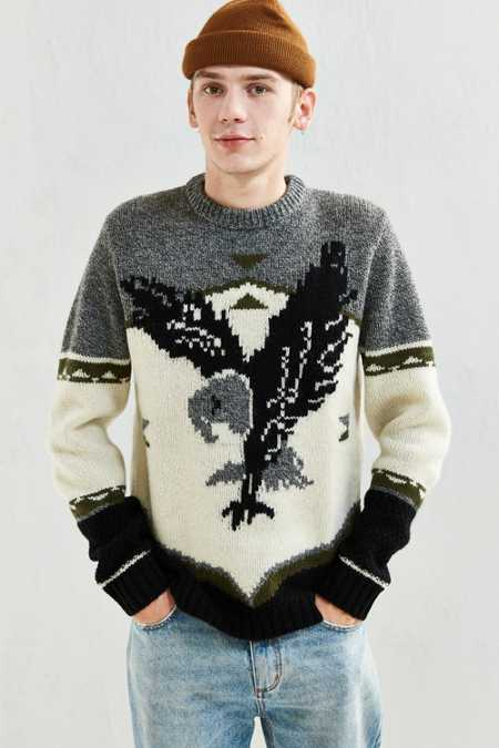 Woolrich Outdoor Eagle Motif Sweater