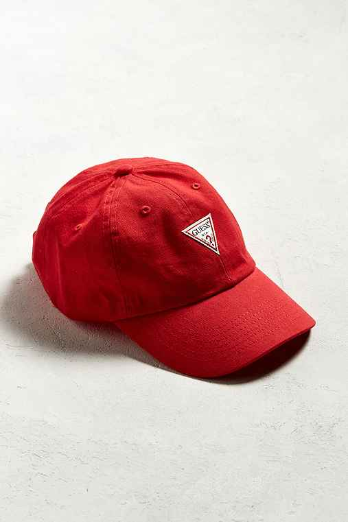 GUESS Baseball Hat,RED,ONE SIZE