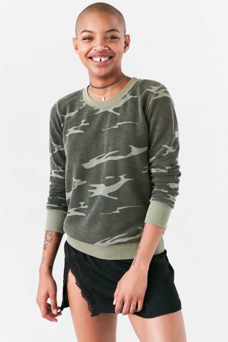 Truly Madly Deeply Hudson Camo Pullover Sweatshirt