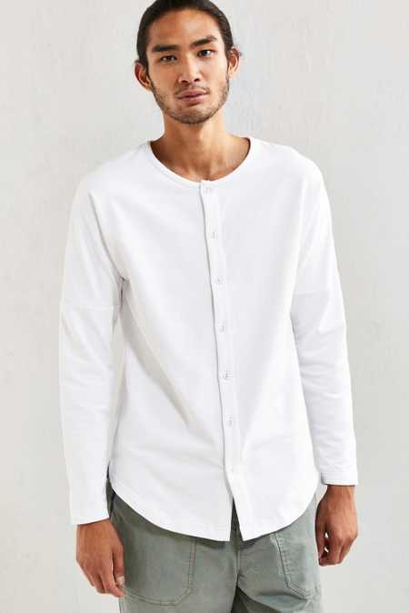 Publish Aydan Terry Buttoned Long-Sleeve Tee