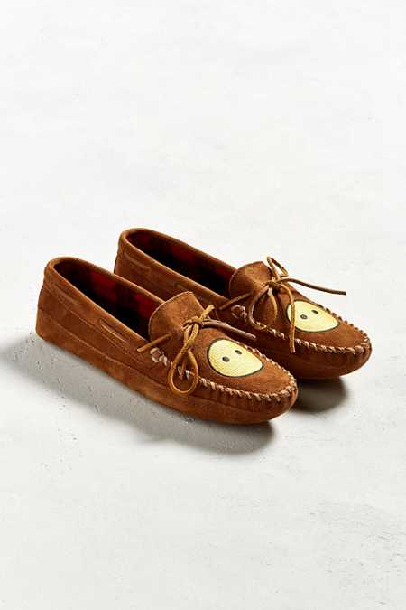 Minnetonka Double Bottom Fleece Moccasin