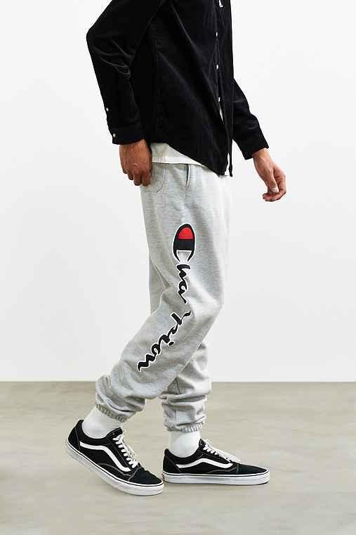 Champion + UO Reverse Weave Script Logo Sweatpant,LIGHT GREY,S