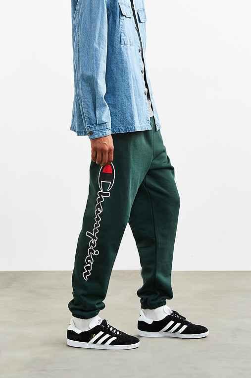 Champion + UO Reverse Weave Script Logo Sweatpant,DARK GREEN,S