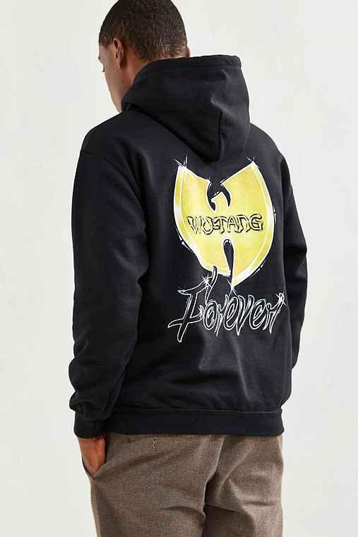 Wu-Tang Forever Hoodie Sweatshirt,BLACK,S