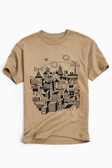 UO Artist Editions Nate Otto Fly Town Tee
