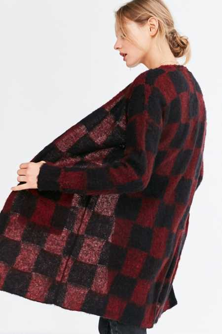 Silence + Noise Buffalo Plaid Cardigan