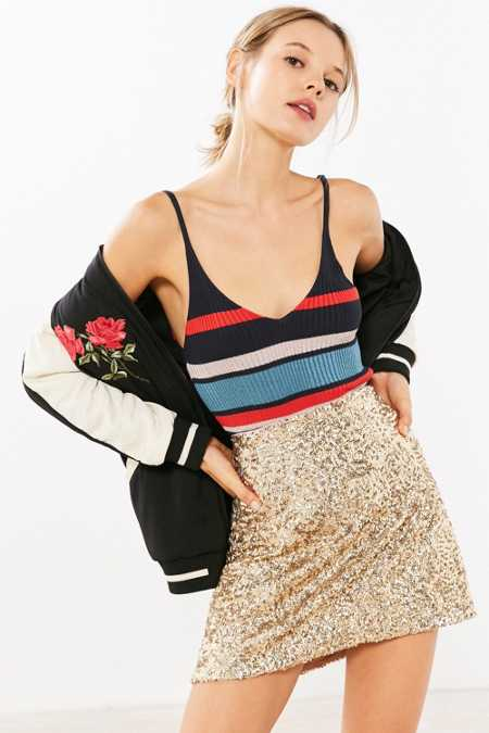 Silence + Noise Sparkle Stripe Sweater Cami