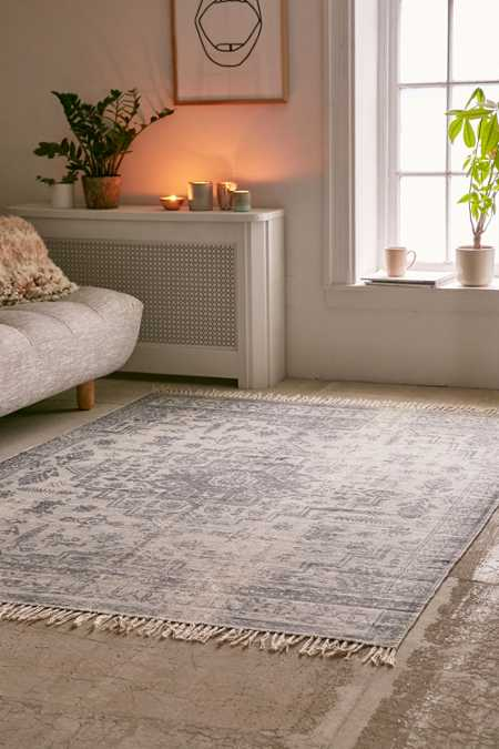 Hollins Distressed Printed Rug