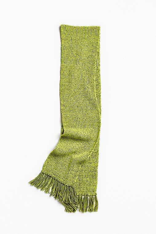 Shaker Stitch Scarf,YELLOW,ONE SIZE
