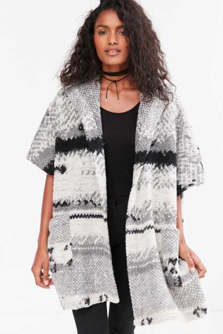 BB Dakota Roza Patterned Poncho Jacket