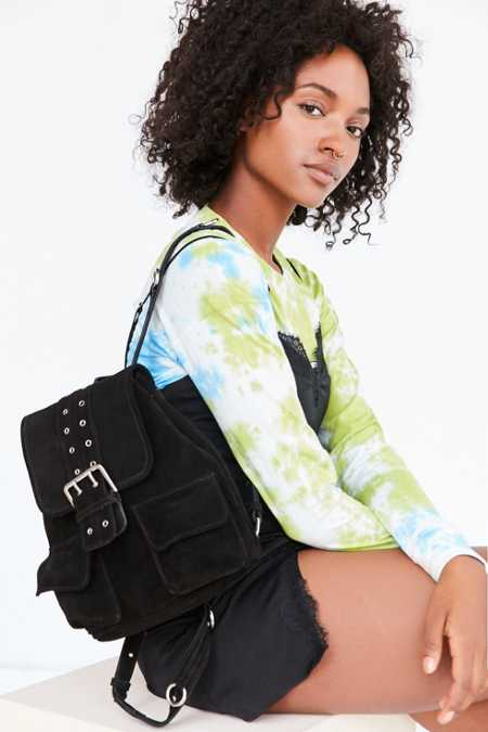 Nika Suede Grommet Backpack