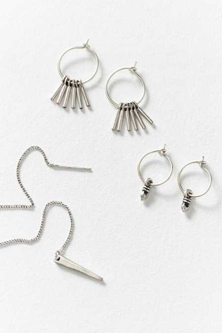 Gemini Hoop + Threader Earring Set