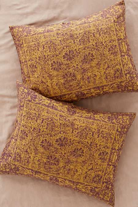 Worn Damask Sham Set