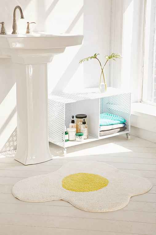 Sunny Side Up Bath Mat,YELLOW,ONE SIZE