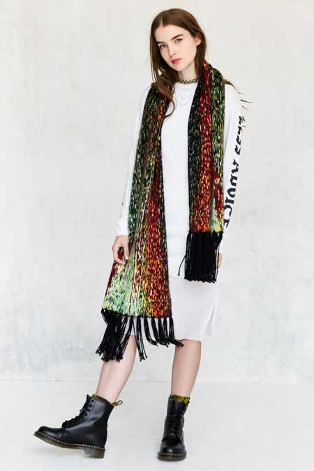 Digital Fringed Scarf