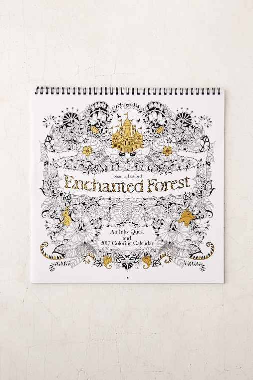 Coloring Book Urban Outfitters Enchanted Forest Calendar