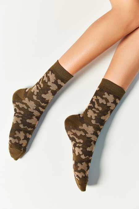 Out From Under Camo Crew Sock