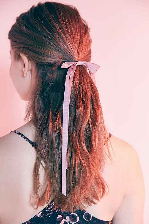 Victorian Slim Hair Bow,PINK,ONE SIZE