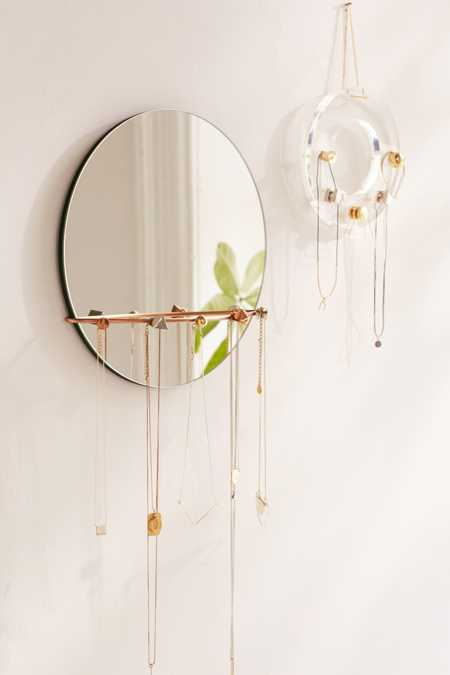 Shapes Hanging Mirror + Jewelry Storage