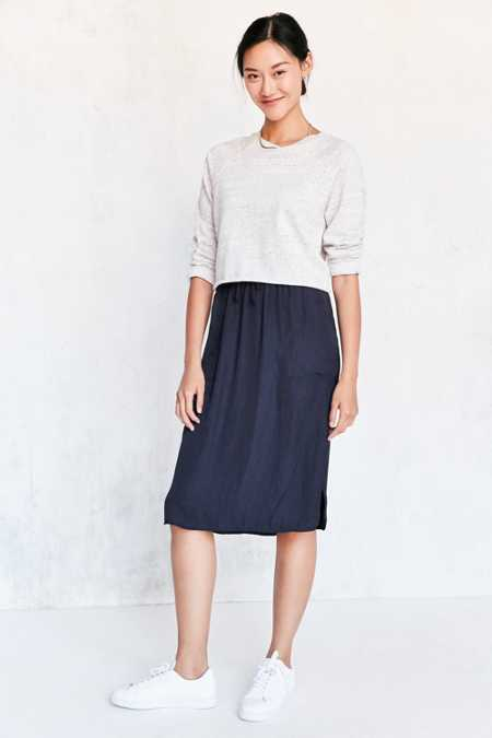 Silence + Noise Dover Pull-On Midi Skirt