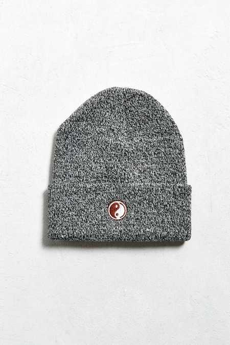 Embroidered Yin-Yang Beanie