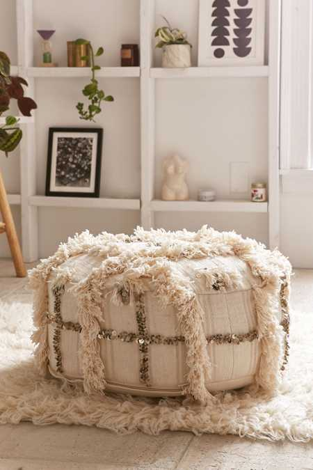Moroccan Coin Pillow Pouf