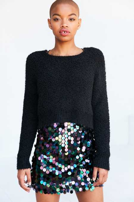 byCORPUS Popcorn-Stitch Pullover Sweater