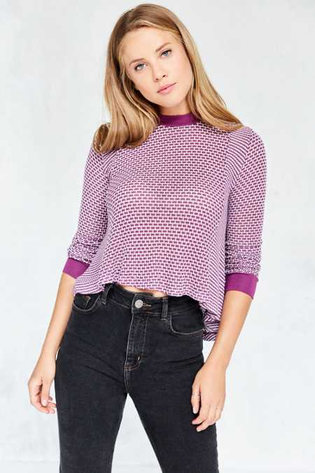 BDG Ringer Swing Pullover Sweater