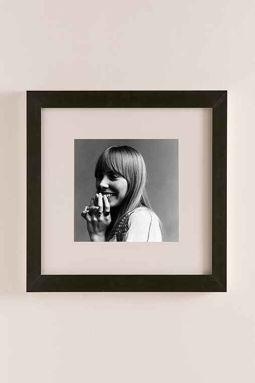 Joni Mitchell, 1968 By Jack Robinson/Hulton Archive/Getty Images,MATTE BLACK FRAME,42X42