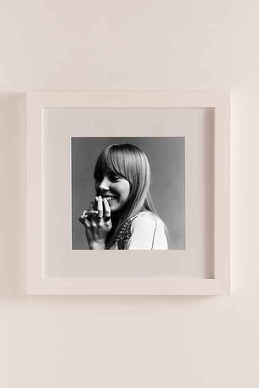 Joni Mitchell, 1968 By Jack Robinson/Hulton Archive/Getty Images,MATTE WHITE FRAME,34X34