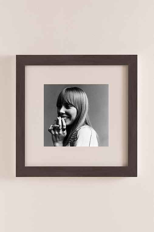 Joni Mitchell, 1968 By Jack Robinson/Hulton Archive/Getty Images,NATURAL EXPRESSO WOOD GRAIN FRAME,22X22