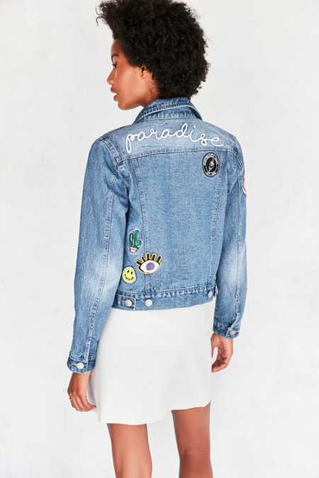 BDG Patched Up Denim Trucker Jacket
