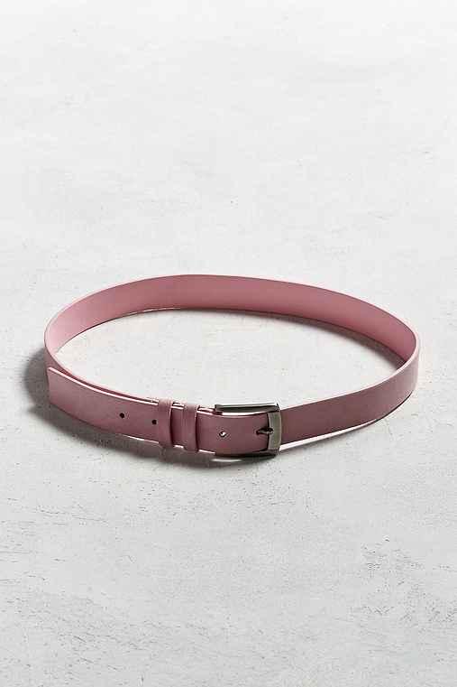 UO Velvet Belt,PINK,34