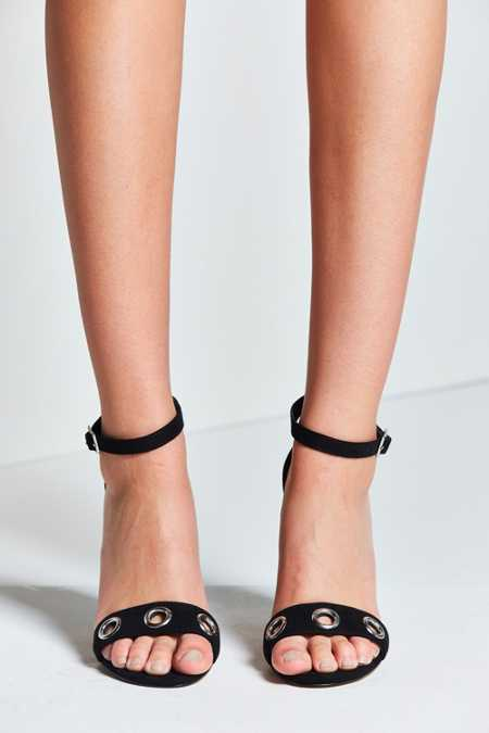 Thin Ankle Strap Grommet Heel