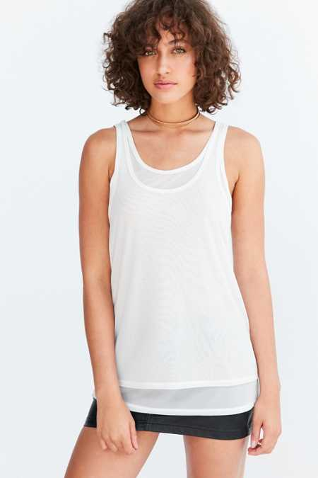 Silence + Noise Selda Double Layer Mesh Tank Top