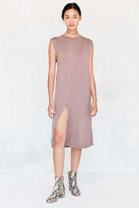 Silence + Noise Asymmetric Muscle T-Shirt Midi Dress