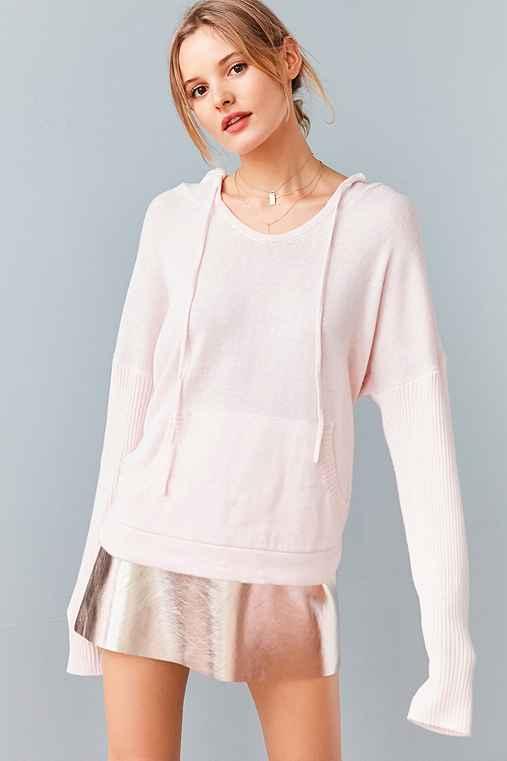 BDG Hoodie Pullover Sweater,PINK,M