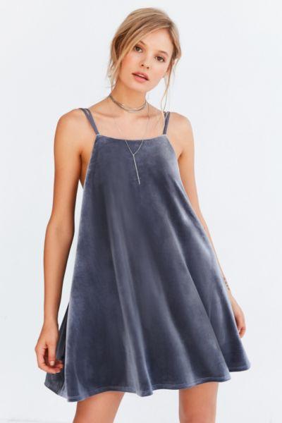 Kimchi Blue Strappy Velvet Mini Slip Dress