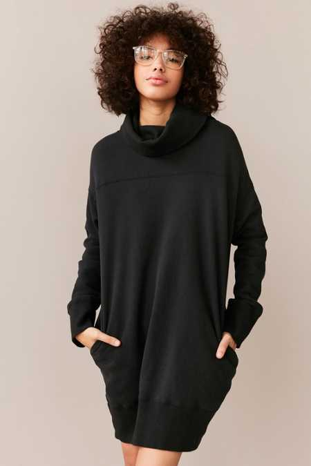 Silence + Noise Turtleneck Sweatshirt Mini Dress