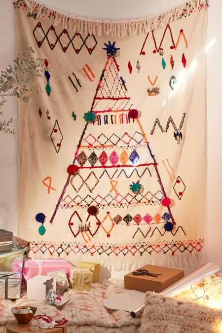 Embellished Holiday Tree Tapestry